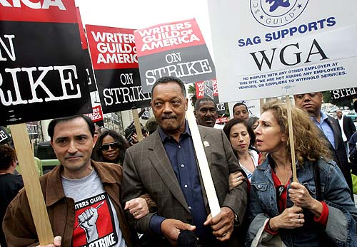 Jackson marches WGA