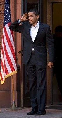 Commander in Chief elect Barack Obama's limp salute