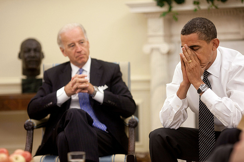 More bad news during the Daily Economic Briefing on July 30, 2009. (Official White House Photo by Pete Souza)