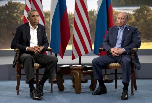 Obama getting dissed by Putin at the G8, June 17, 2013. Putin disagreed with Obama on Syria.